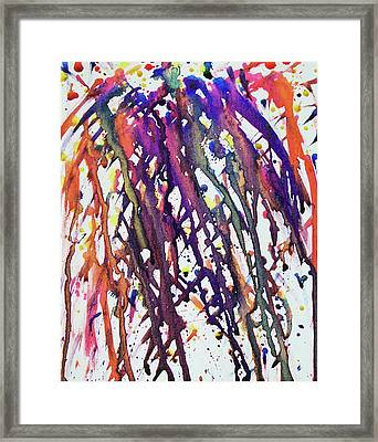 The Inebriated Cyclical Phoenix Framed Print by Donovan Hubbard