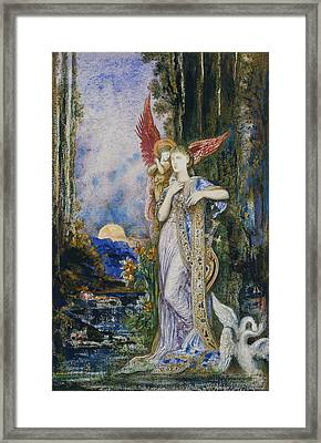 The Inspiration  Framed Print by Gustave Moreau