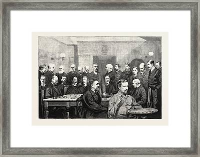 The International Chess Congress Some Of The Chief Members Framed Print by English School