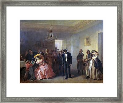 The Interrupted Betrothal Framed Print by Celestial Images