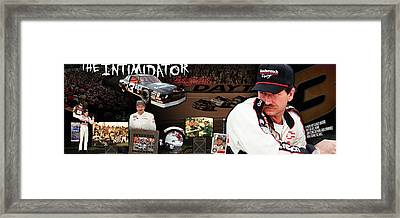 The Intimidator Dale Earnhardt Panoramic Framed Print by Retro Images Archive