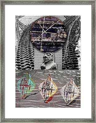 The Invention Of The Wheel Framed Print by Maria Jesus Hernandez