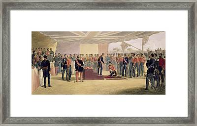 The Investiture Of The Order Framed Print by William 'Crimea' Simpson