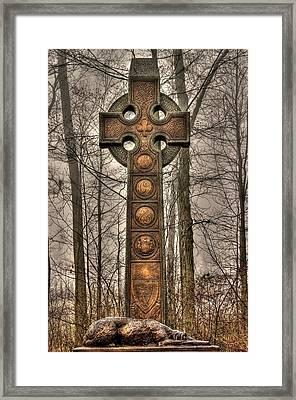 The Irish Brigade At Gettysburg  63rd-69th-88th New York Infantry St. Patricks Day 2012 Close-a Framed Print by Michael Mazaika