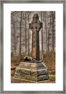 The Irish Brigade At Gettysburg  63rd-69th-88th New York Infantry St. Patricks Day 2012 Framed Print by Michael Mazaika