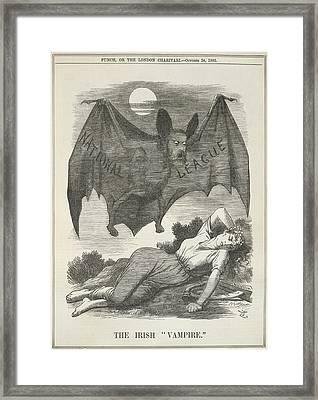 The Irish Vampire Framed Print by British Library