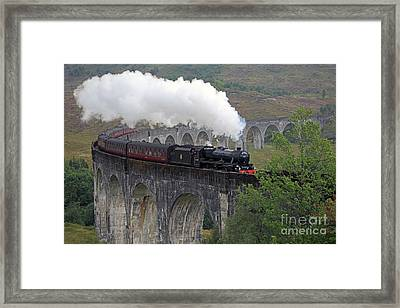 The Jacobite Steam Train Framed Print by Maria Gaellman