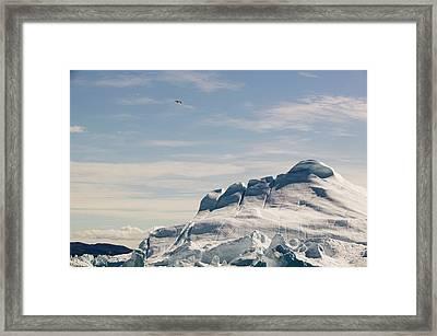 The Jakobshavn Glacier Framed Print by Ashley Cooper