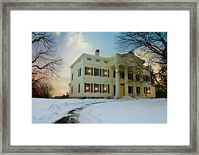 The Jay House Circa 1836 Framed Print by Diana Angstadt