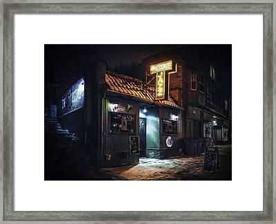 The Jazz Estate Nightclub Framed Print by Scott Norris