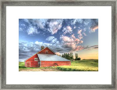 The Jenkins Red Barn Framed Print by Latah Trail Foundation