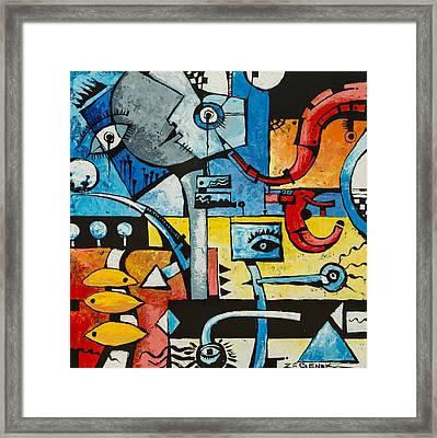 The Jester Framed Print by Zii Genek