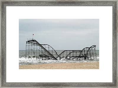 The Jetstar Rollercoaster In Seaside Heights Nj Framed Print by Living Color Photography Lorraine Lynch