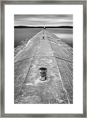 The Jetty Framed Print by Adam Romanowicz
