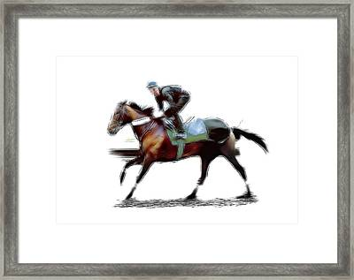 The Jockey Framed Print by Stefan Kuhn