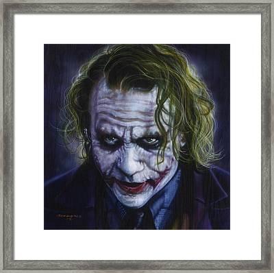 The Joker Framed Print by Tim  Scoggins