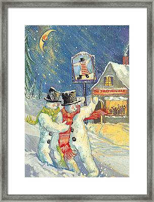 The Jolly Snowman  Framed Print by David Cooke