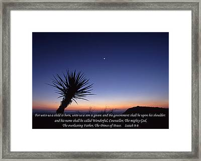 Christs Birthday Framed Print featuring the photograph The Joy Of Christmas by David and Carol Kelly