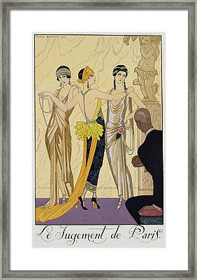 The Judgement Of Paris Framed Print by Georges Barbier