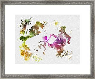 The Jungle Book Framed Print by Rebecca Jenkins