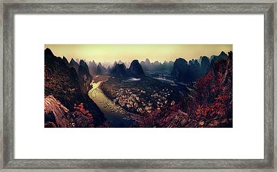 The Karst Mountains Of Guangxi Framed Print by Clemens Geiger