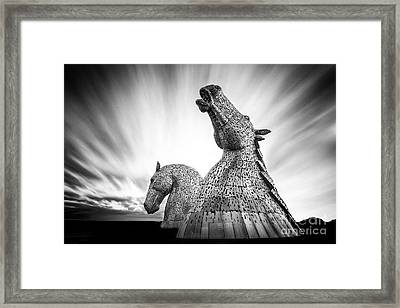 The Kelpies Framed Print by John Farnan