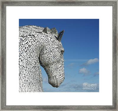 The Kelpies Framed Print by Tim Gainey