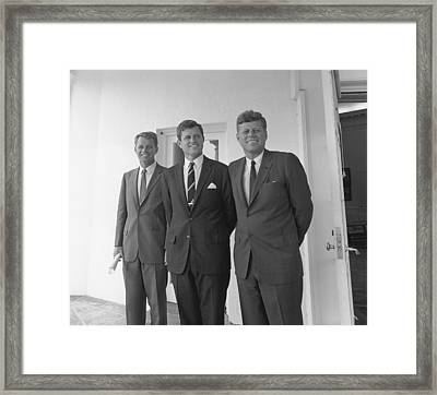 The Kennedy Brothers Framed Print by War Is Hell Store