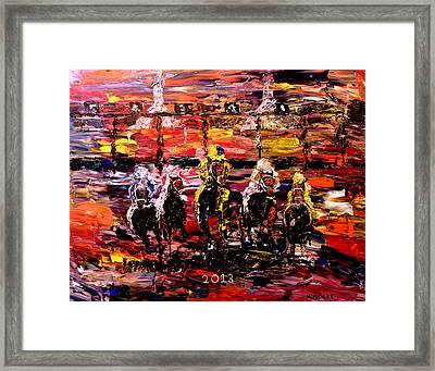 The Kentucky Derby 2013  And They're Off  Framed Print by Mark Moore