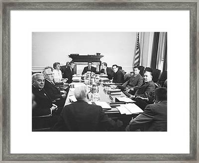 The Kerner Commission Framed Print by Underwood Archives