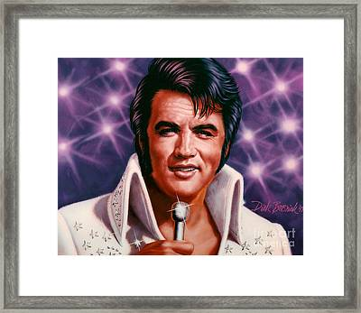 The King Framed Print by Dick Bobnick