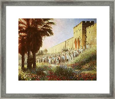 The King Is Coming  Jerusalem Framed Print by Graham Braddock