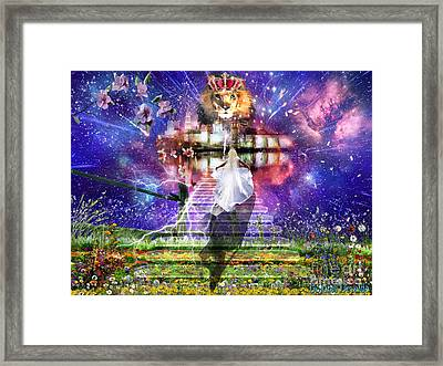 The King Is Here Framed Print by Dolores Develde