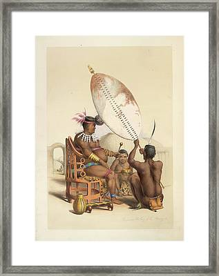The King Of Amazulu Framed Print by British Library
