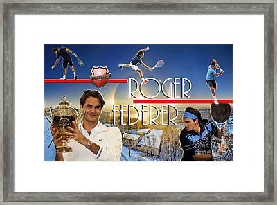 The King Roger Federer Framed Print by Christopher Finnicum