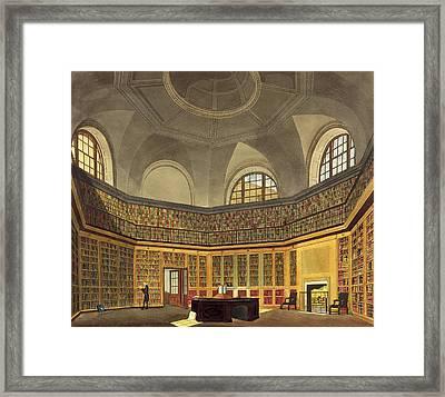 The Kings Library, Buckingham House Framed Print by James Stephanoff