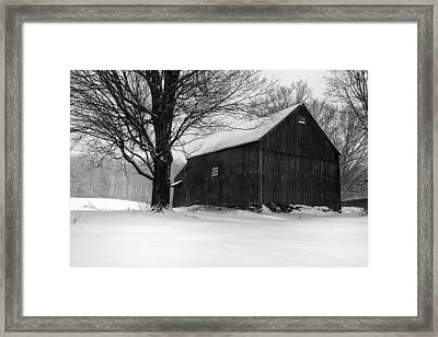 The Kinney Barn By Thomas Schoeller Framed Print by Thomas Schoeller