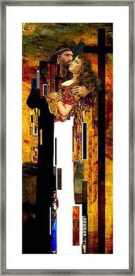 The Kiss     Christ And Maria Magdalena Framed Print by Karine Percheron-Daniels