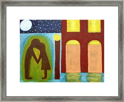 The Kiss Goodnight Framed Print by Patrick J Murphy