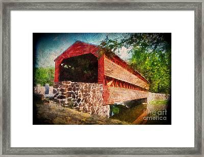 The Kissing Bridge Framed Print by Lois Bryan