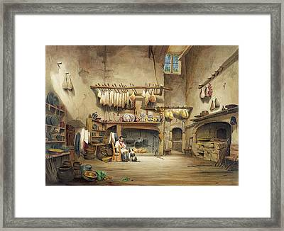 The Kitchen Framed Print by English School