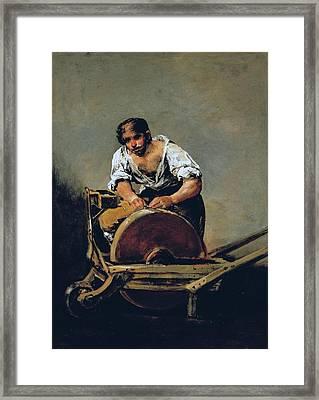 The Knife-grinder Framed Print by Francisco Goya