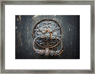 The Knocker Framed Print by Ryan Wyckoff