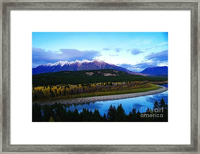 The Kootenenai River Surrounding The Canadian Rockies   Framed Print by Jeff Swan
