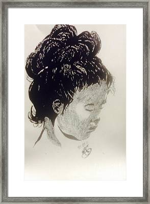 The Korean Girl Framed Print by Franky A HICKS