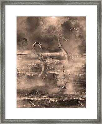 The Kraken Unleashed Framed Print by Renato Nogueira Saltori