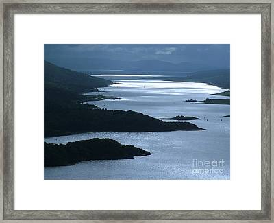 The Kyles Of Bute Framed Print by Joan-Violet Stretch