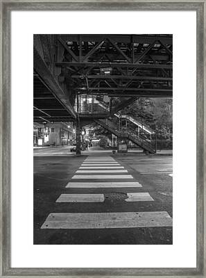 The L And Crosswalk Framed Print by John McGraw
