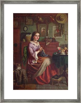 The Labourers Welcome Framed Print by Joseph Clark