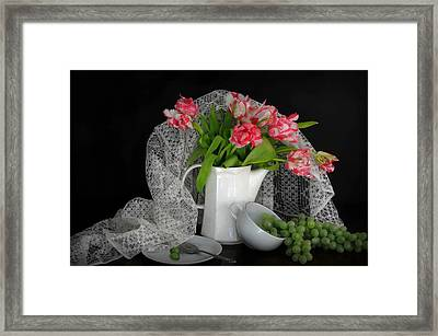 The Lace Veil  Framed Print by Diana Angstadt